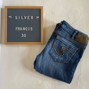 """Silver """"Francis"""" 18"""" Jeans Bootcut MidRise Size 30"""